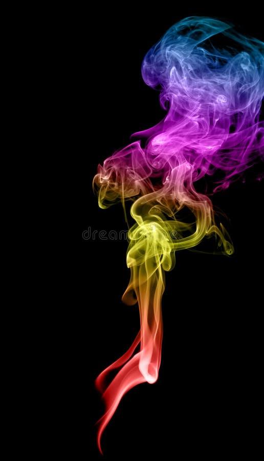 抽象多彩多姿的烟 库存图片