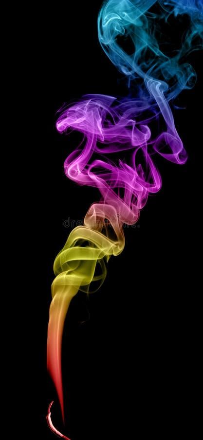 抽象多彩多姿的烟 免版税库存照片