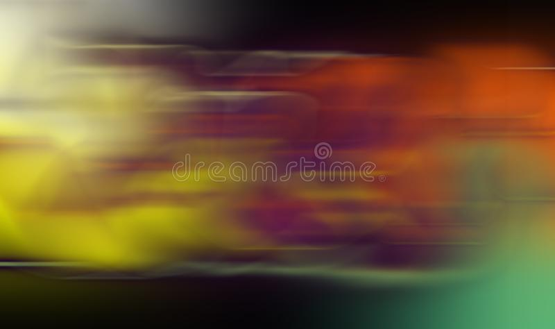 抽象多彩多姿的行动迷离被遮蔽的背景,墙纸 生动的颜色传染媒介例证 免版税库存图片