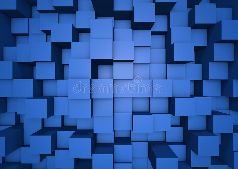 抽象多维数据集墙壁 向量例证