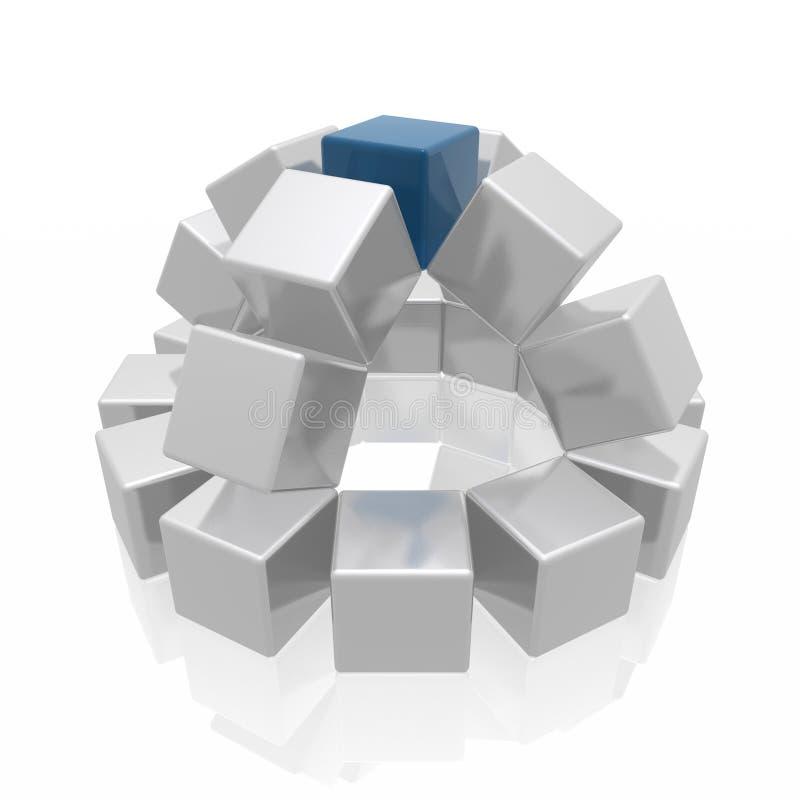 抽象多维数据集形状 皇族释放例证