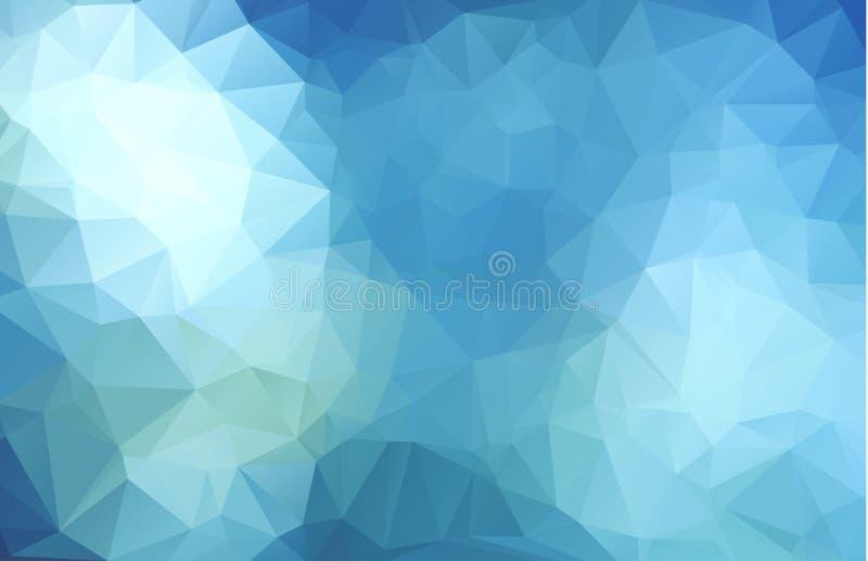 抽象多色深蓝几何弄皱的三角低多样式梯度例证图表背景 皇族释放例证
