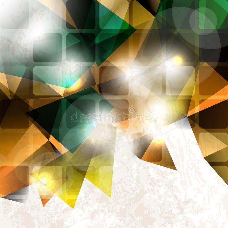 抽象多色背景模板 皇族释放例证