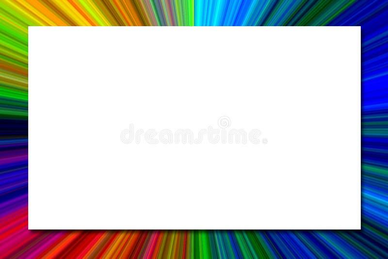 抽象多色Starburst纹理框架 皇族释放例证