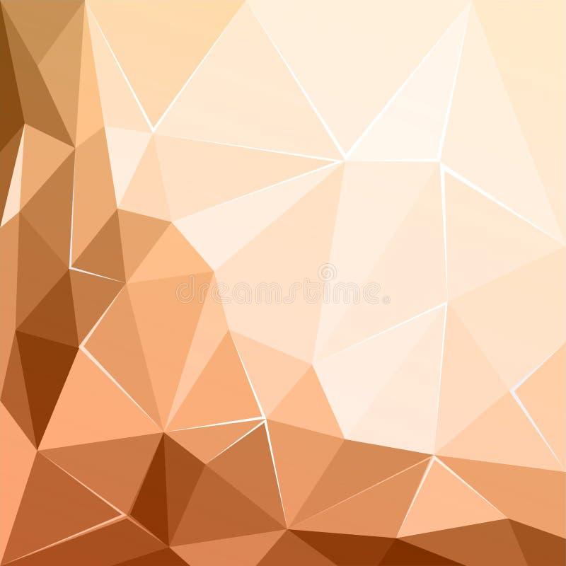 抽象多角形几何小平面褐色ecru背景 库存例证