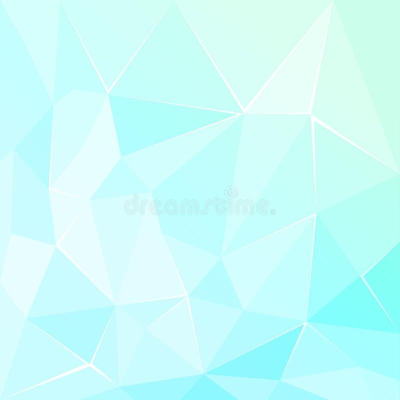 抽象多角形几何小平面绿松石背景 向量例证