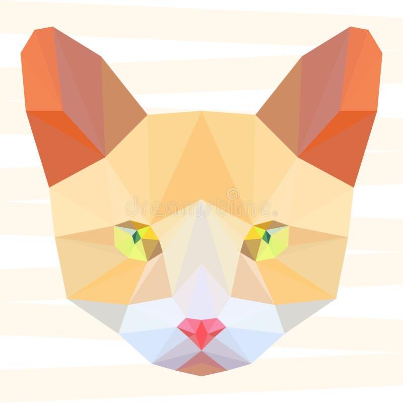 抽象多角形几何猫画象背景用于设计 皇族释放例证