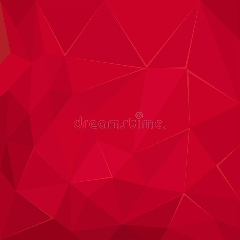 抽象多角形几何红色小平面背景墙纸例证 向量例证