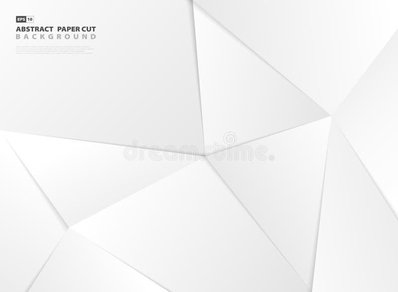 抽象多角形梯度灰色纸裁减样式设计模板背景 r 皇族释放例证