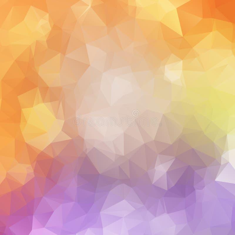 抽象多角形马赛克背景 向量例证
