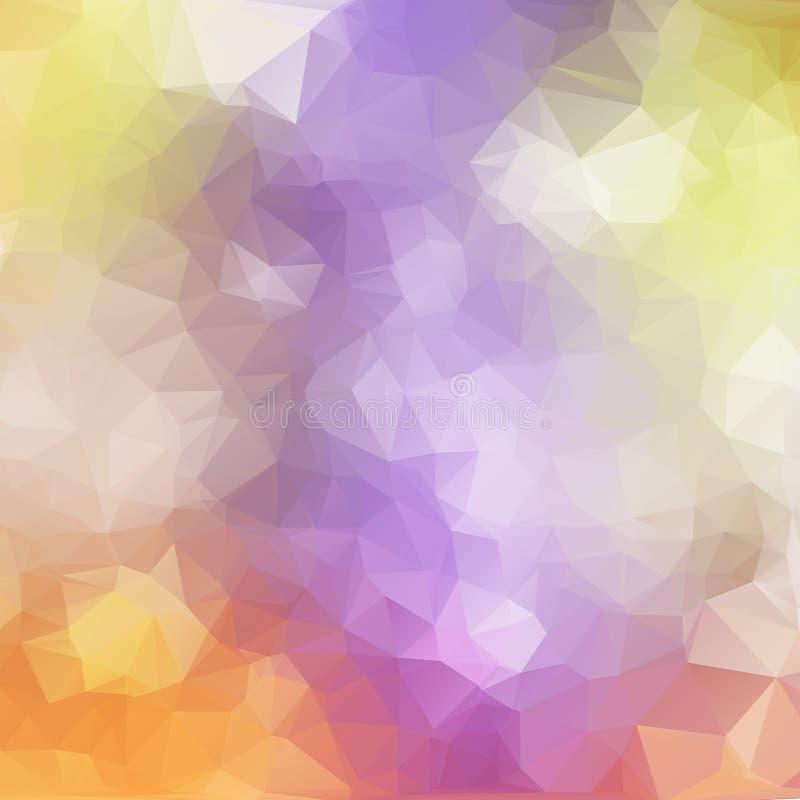 抽象多角形马赛克背景 皇族释放例证