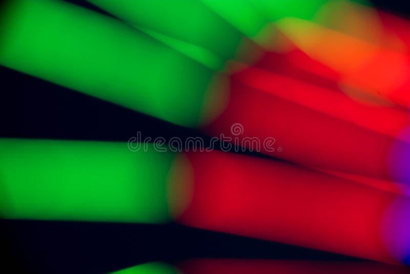 抽象多颜色的萤光 库存图片