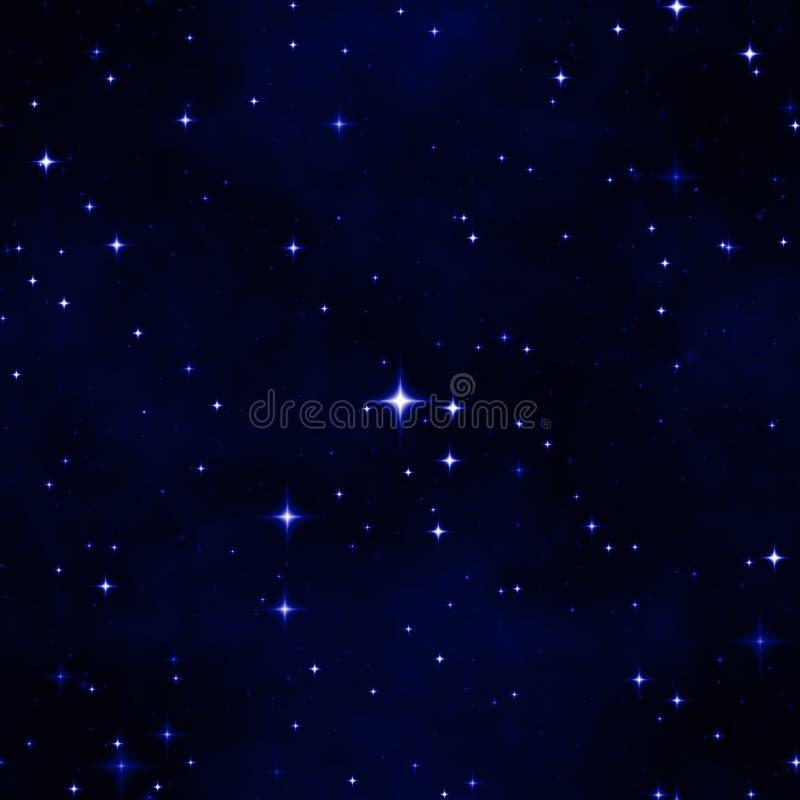 抽象夜空星形 库存例证