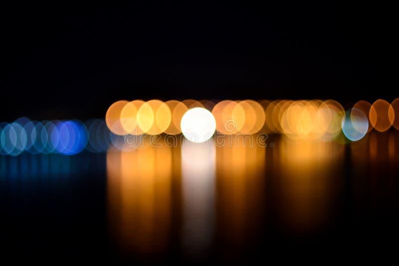 抽象夜defocused光 库存图片