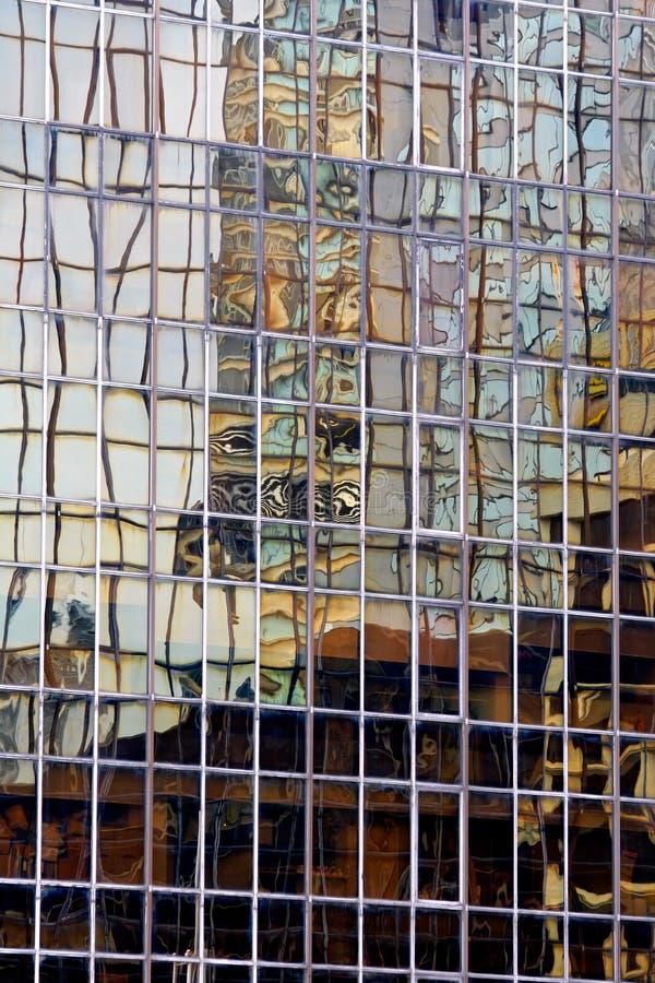 抽象大厦反映 库存图片