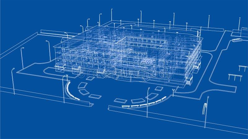 抽象大厦 向量 向量例证