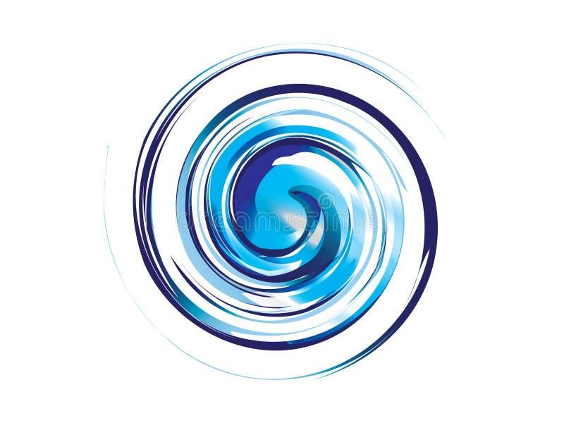 抽象大海漩涡商标 向量例证