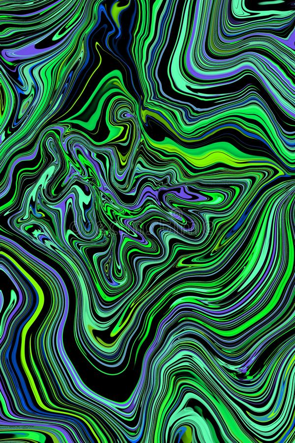 抽象大理石印刷品,设计模板 豪华设计小册子,横幅vip盖子绿色梯度纹理例证背景 向量例证