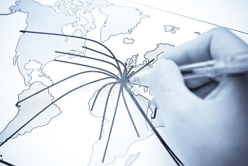抽象大陆映射世界 免版税库存图片