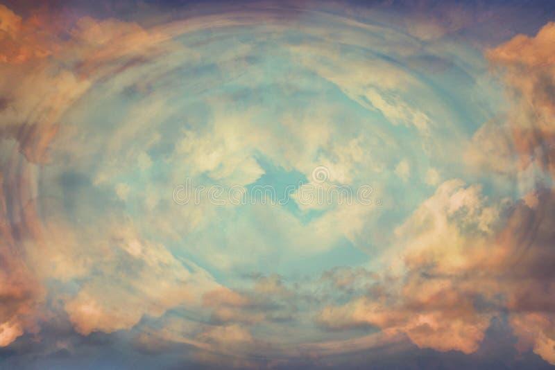 抽象天堂般的背景,从天堂的光 揭示概念 库存照片