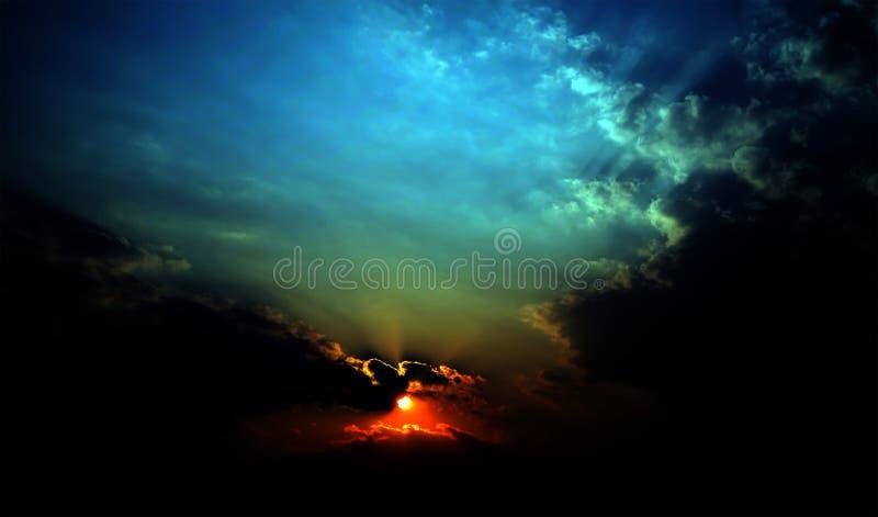 抽象天空和云彩 库存照片
