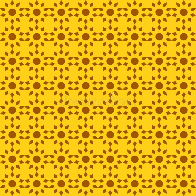 抽象太阳的传染媒介无缝的样式在明亮的颜色的 库存例证