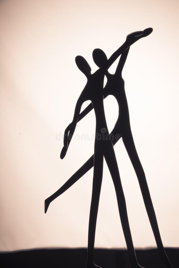 抽象夫妇跳舞 免版税图库摄影