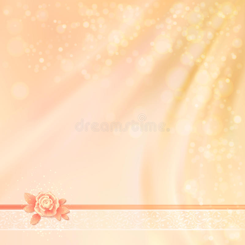 抽象婚礼织品背景设计 库存例证