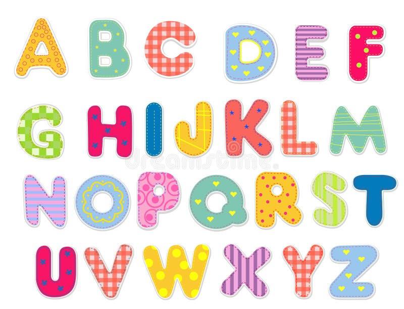 抽象字母表 皇族释放例证