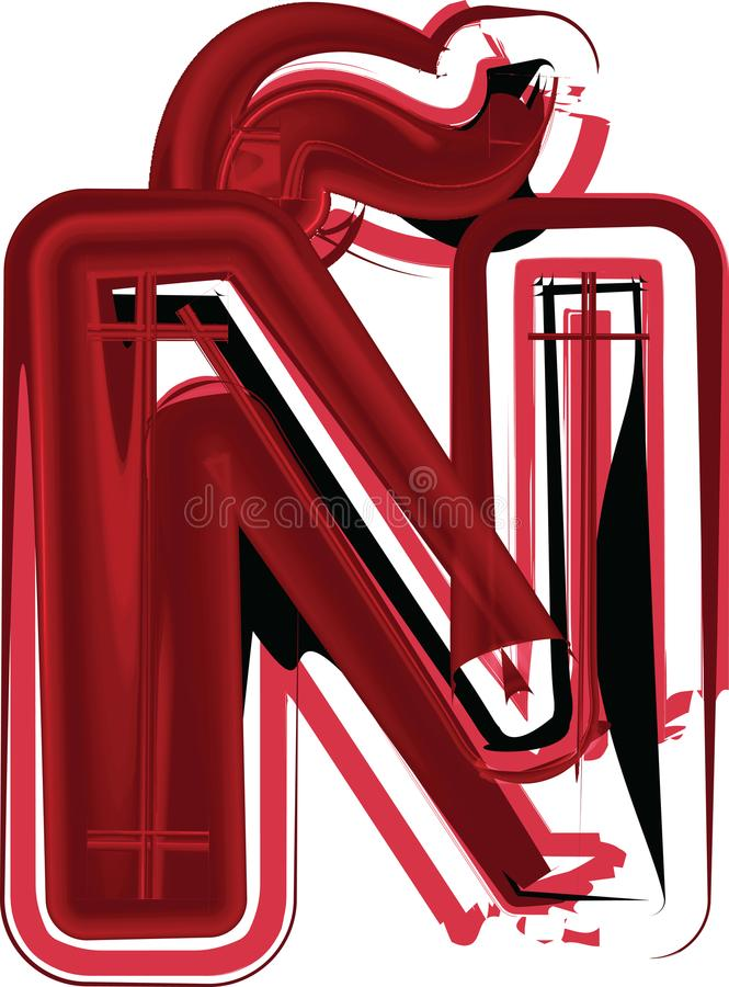 抽象字母N 皇族释放例证