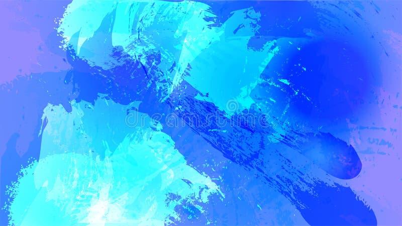 抽象宇宙水彩飞溅背景 设计在蓝色和紫罗兰色的传染媒介元素 向量例证