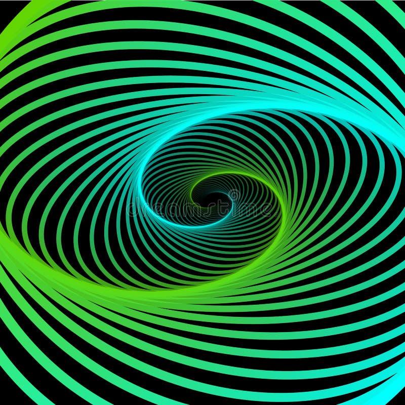 抽象宇宙,扭转线背景 纳诺技术结构,视觉效果 皇族释放例证
