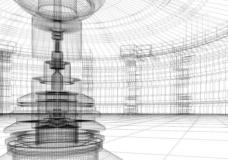 抽象实验室 免版税图库摄影