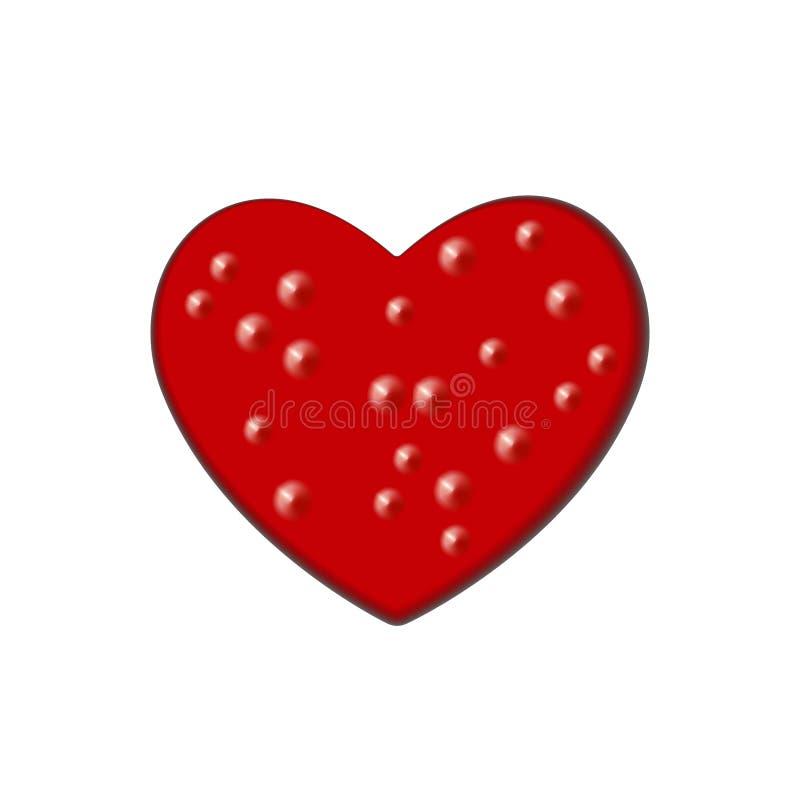 抽象小丘,爆沸设计元素为情人节 红色隆起心脏夜象抽象 r 库存例证