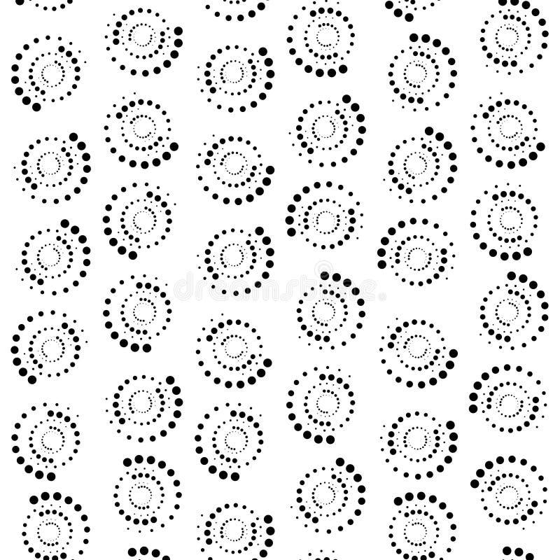 抽象小点圈子背景 3d翻译 库存例证