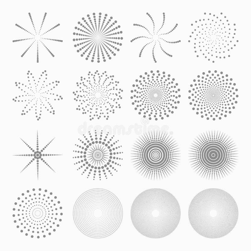 抽象小点形状,套设计元素 皇族释放例证