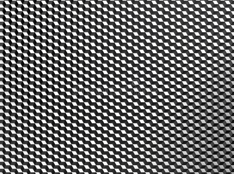 抽象小立方体背景样式 库存例证