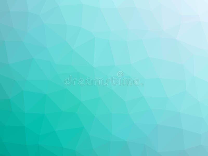 抽象小野鸭白色梯度多角形形状的背景 向量例证