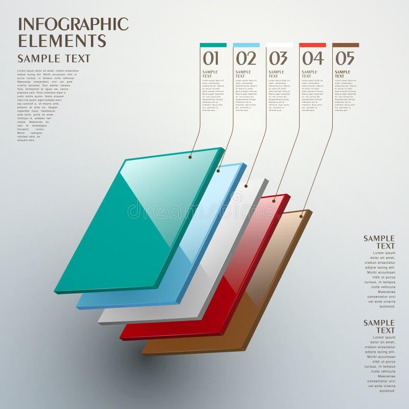 抽象层数图infographics 皇族释放例证
