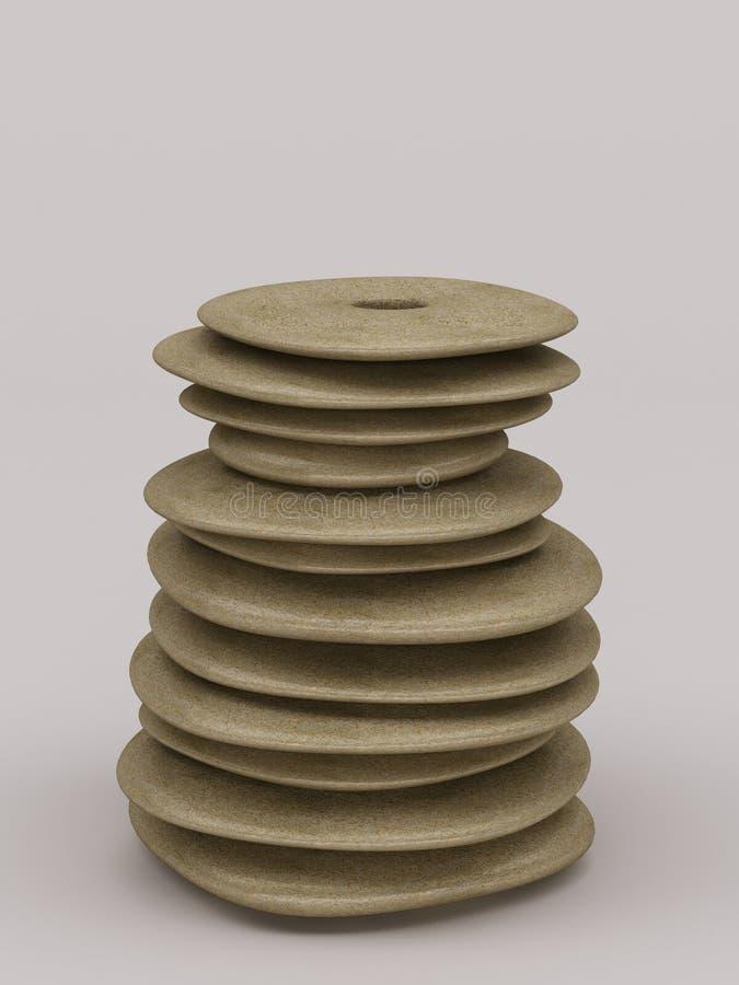 抽象岩石设计了花瓶 免版税图库摄影