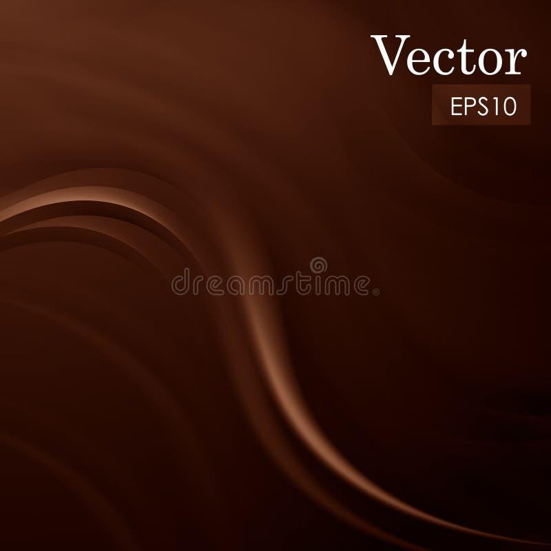 抽象巧克力甜丝绸背景传染媒介例证 向量例证