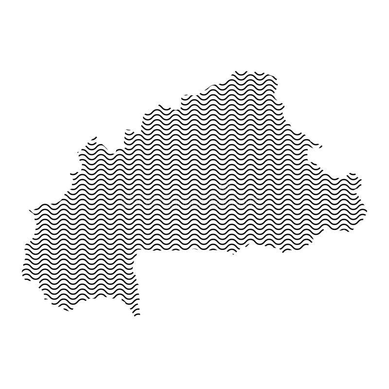 抽象布基纳法索国家剪影波浪黑重复 皇族释放例证