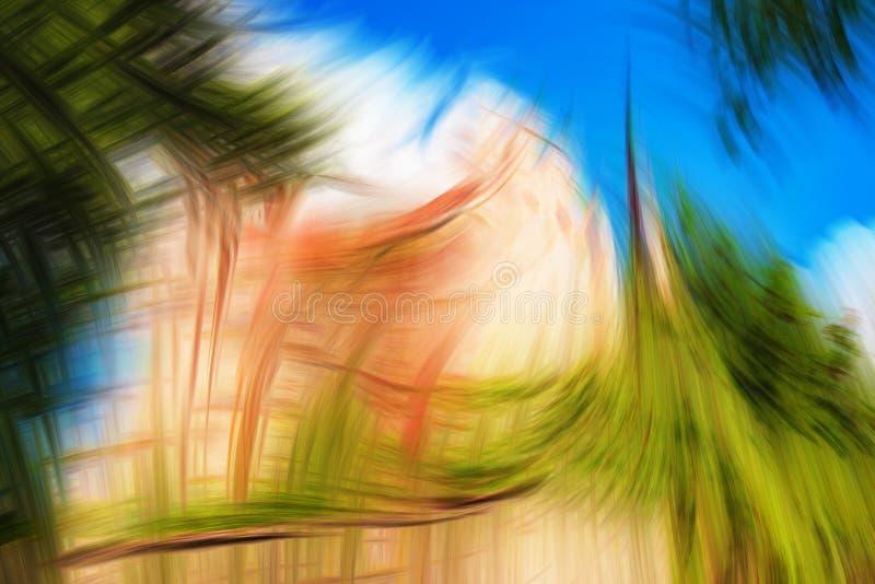 抽象幻想背景,有问题的生态,绿色大厦 皇族释放例证