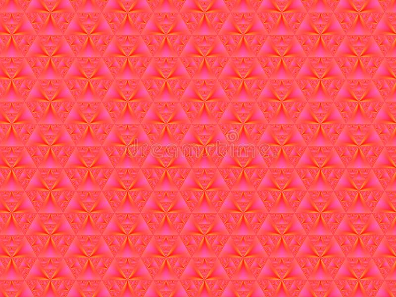 抽象广告背景、粉红色荧光、几何渐变图案 库存图片