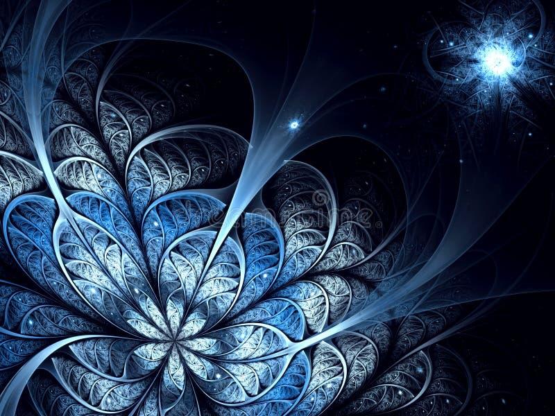 抽象异常的花-数位引起的图象 向量例证