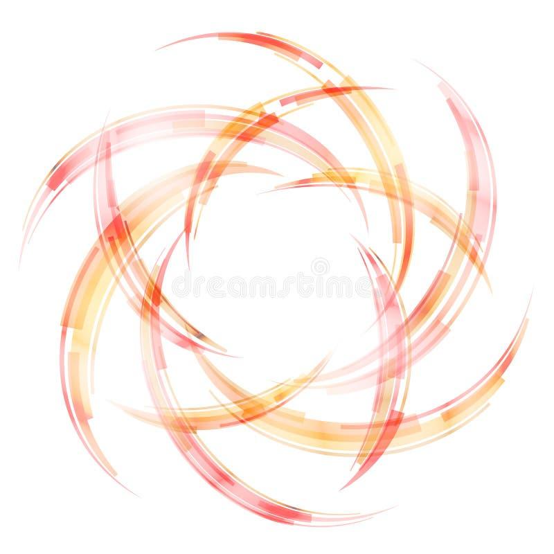 抽象弯条纹以弧的形式 向量例证