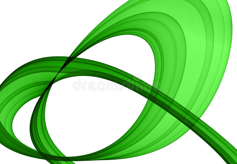 抽象形成绿色 皇族释放例证