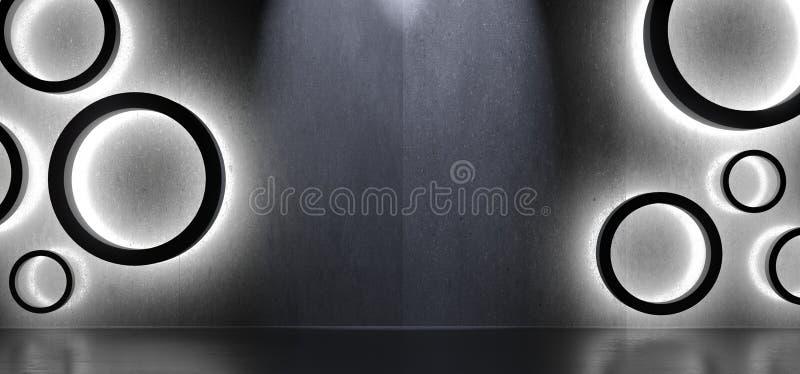 抽象形状圈子内部与柔光 库存例证