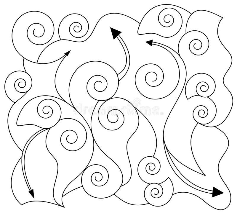 抽象形状转动 库存例证