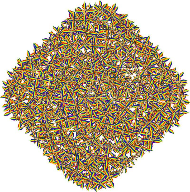 抽象形状 五颜六色的被编织的缠结 抽象缠结 向量例证